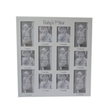New Style Collage Wooden White Photo Frame